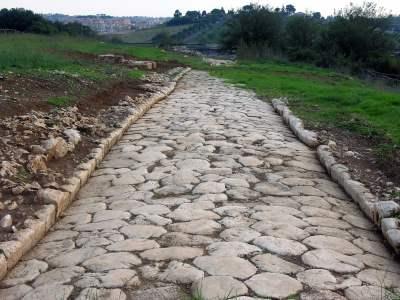 Immagine dello scavo via Nomentum-Eretum