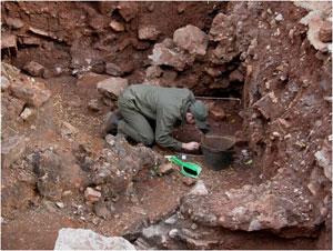 Drimolen - Una fase dello scavo