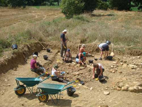 Bibbiena - Attività di scavo