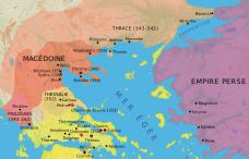Carte de la Macédoine sous Philippe II