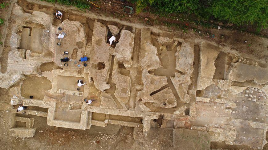 Opulente villa patricienne gallo-romaine en cours de fouilles à Auch