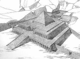 reconstitution temple funéraire Mentouhotep