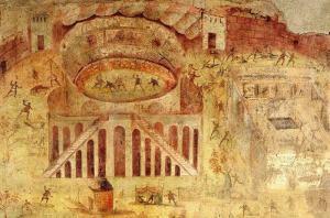 combat amphithéâtre Pompéi