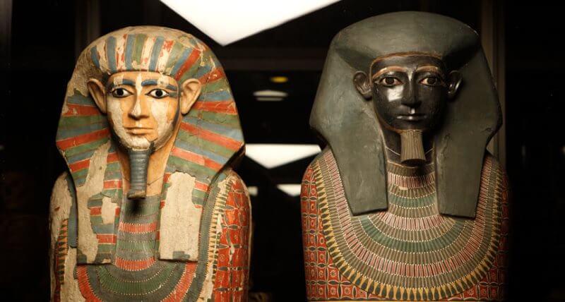 sarcophages tombe des deux frères