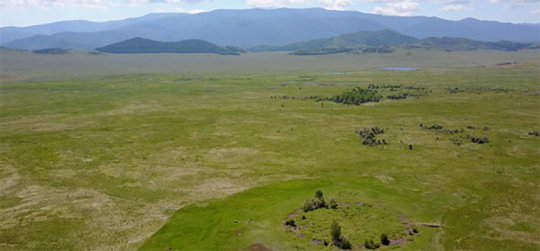 Repérage du plus ancien tumulus princier scythe inviolé en Sibérie