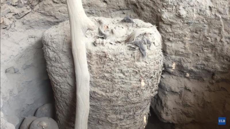 Découverte d'une momie intacte sur le site sacré inca de Pachacamac