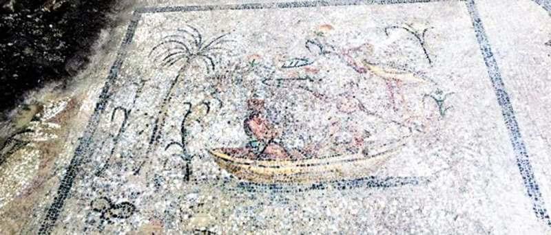 mosaique-romaine-peche-phainos-halicarnasse