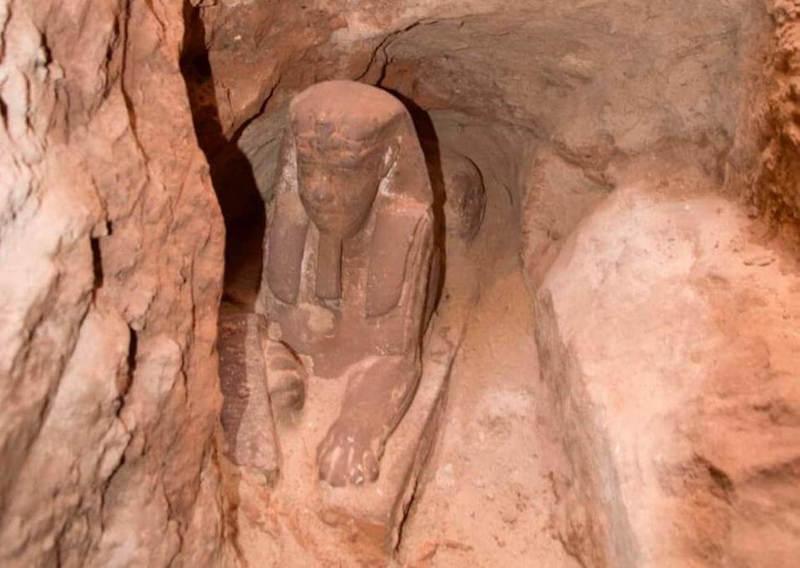 Statue de sphinx ptolémaïque trouvée à Kom Ombo