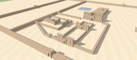 Sanctuaire du dieu Thôt d'Hermopolis, essai de reconstitution