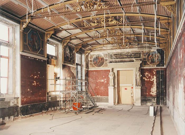 Naujasis muziejus, restauravimo darbai. Šaltinis: http://rao-berlin.de/en/archive/1972