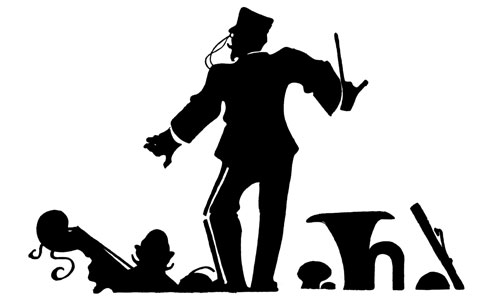 Illustration of a bandleader