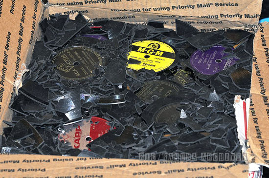 Box of broken records