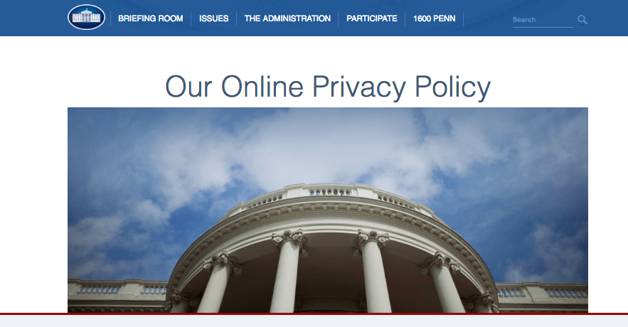 white-house-privacy-policy