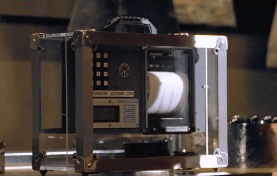 Fake seismograph with camera, a cyber attack strategy