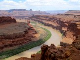 The Goosenecks Overlook allows a view of the Colorado River's bends as it winds through Canyonlands National Park.