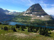 Bearhat Mountain is a giant in the landscape at Logan Pass