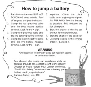 How to Jump a Battery
