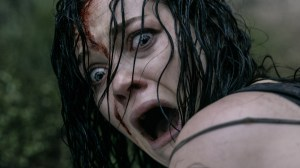 """Evil Dead"" ,br>In the much anticipated remake of the 1981 cult-hit horror film, five twenty-something friends become holed up in a remote cabin. When they discover a Book of the Dead, they unwittingly summon up dormant demons living in the nearby woods, which possess the youngsters in succession until only one is left intact to fight for survival."