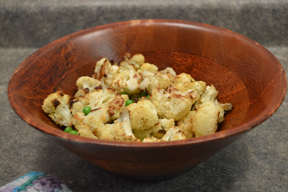Photo by NATALIE GUYETTECauliflower dish is a healthier option than alfredo pasta,