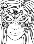 Coloring page design by Brigit Kreienkamp.