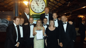 The project team at the RICS awards