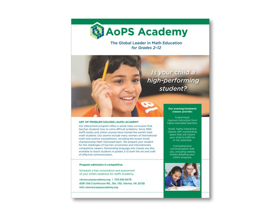 design portfolio piece fact sheets educational institution