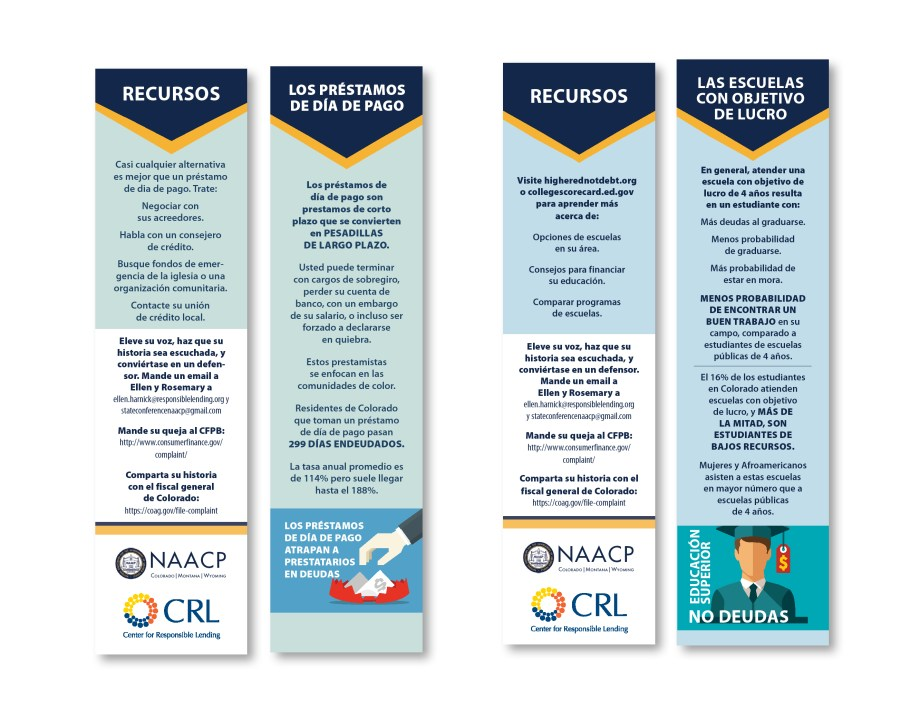 Raleigh Graphic Design Firm Sample bookmark for nc nonprofit