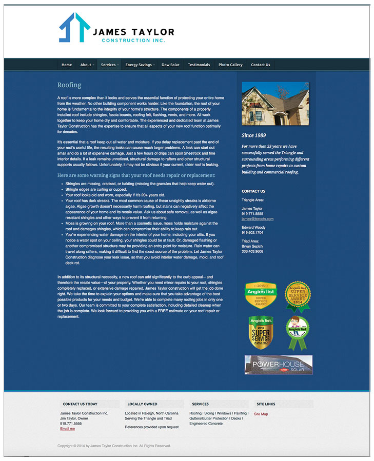 Raleigh Design Firm Web Sample