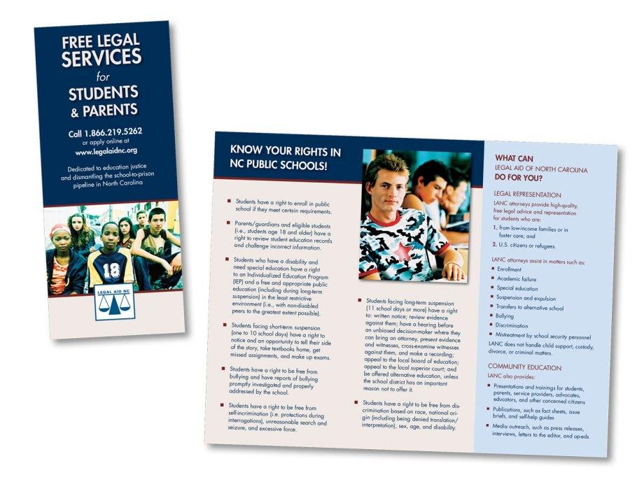 graphic design sample trifold brochure