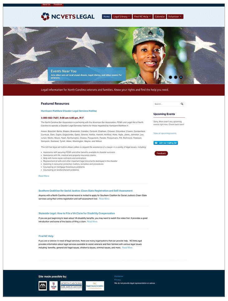 Raleigh Graphic Design portfolio sample website for local nonprofit