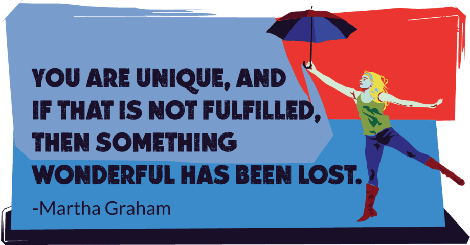 Inspirational quote from archetype graphic design and writing services