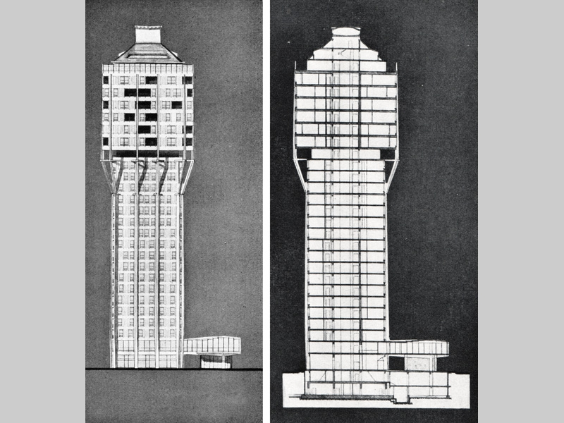 Torre Velasca Sections