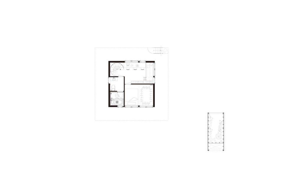 Floor Plan of H Hat House