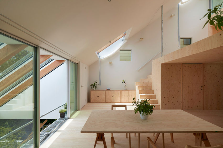 Dining Room Area -  House in Kobe by Tomohiro Hata