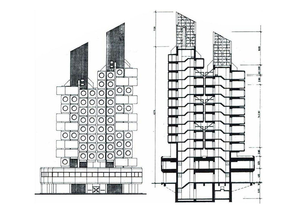 Nakagin Capsule Tower / Kisho Kurokawa