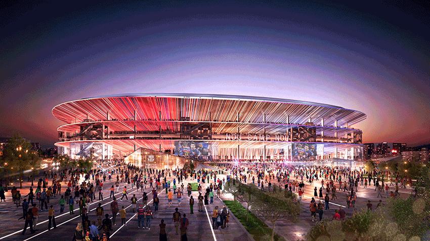 New Camp Nou Stadium Exterior Image