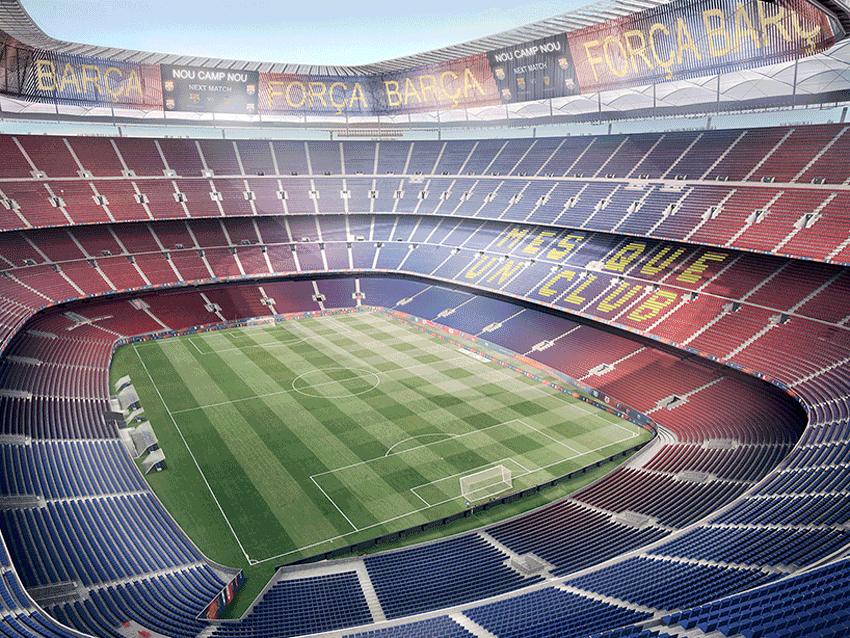 New Camp Nou Stadium Interior