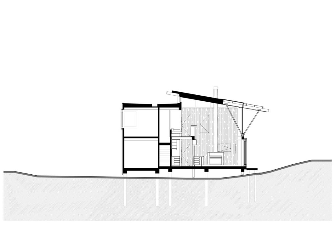 Section Plan  - Under Pohutukawa / Herbst Architects