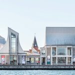 Utzon Center in Aalborg from waterfront