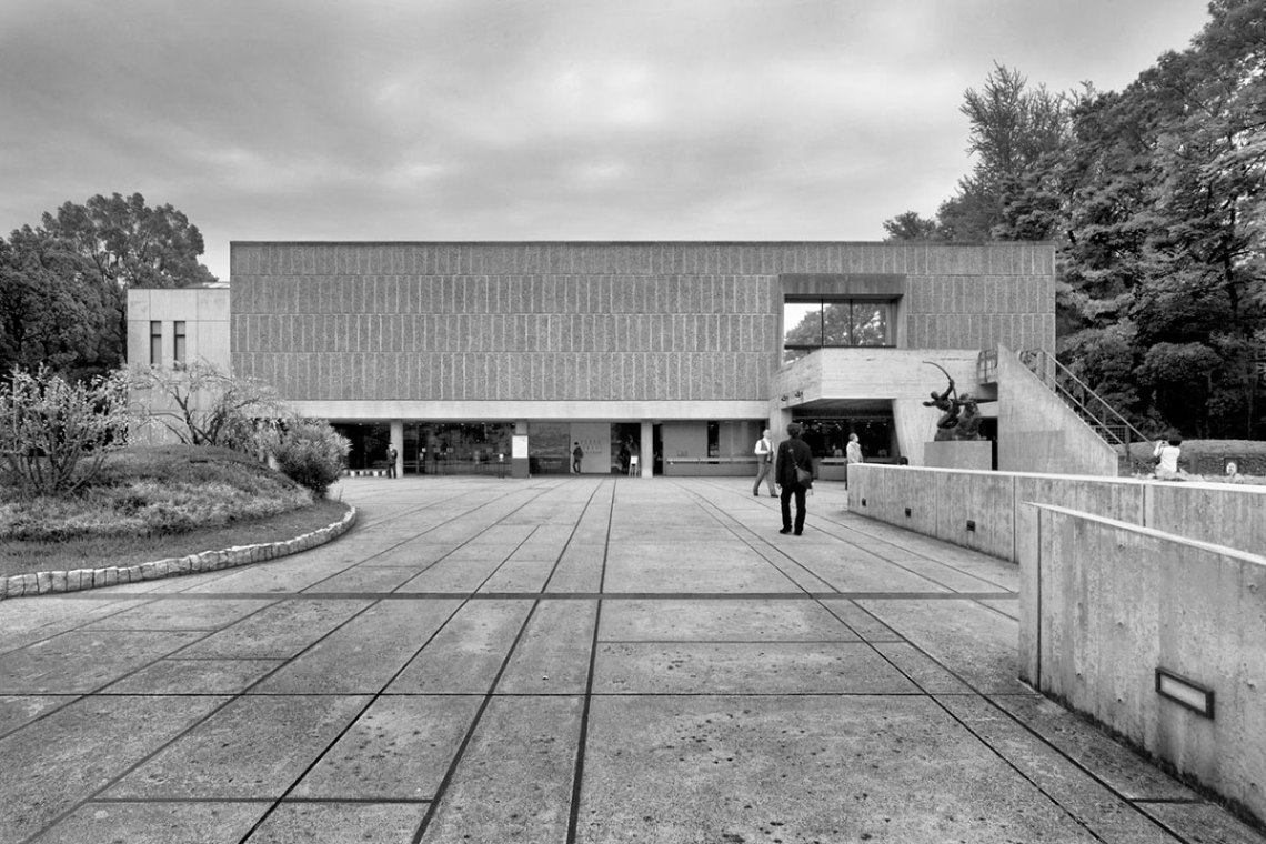 Exterior Facade of the National Museum of Western Art in Tokyo / Le Corbusier