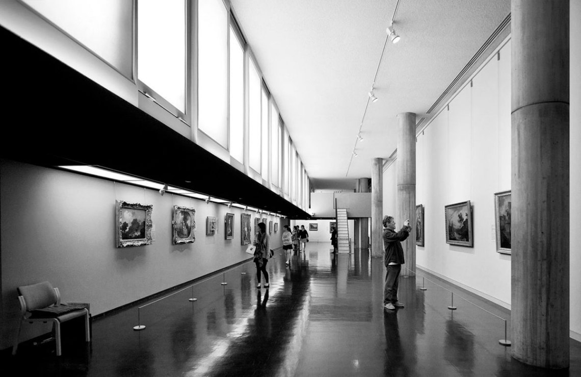 Interior Galleries of the National Museum of Western Art in Tokyo / Le Corbusier