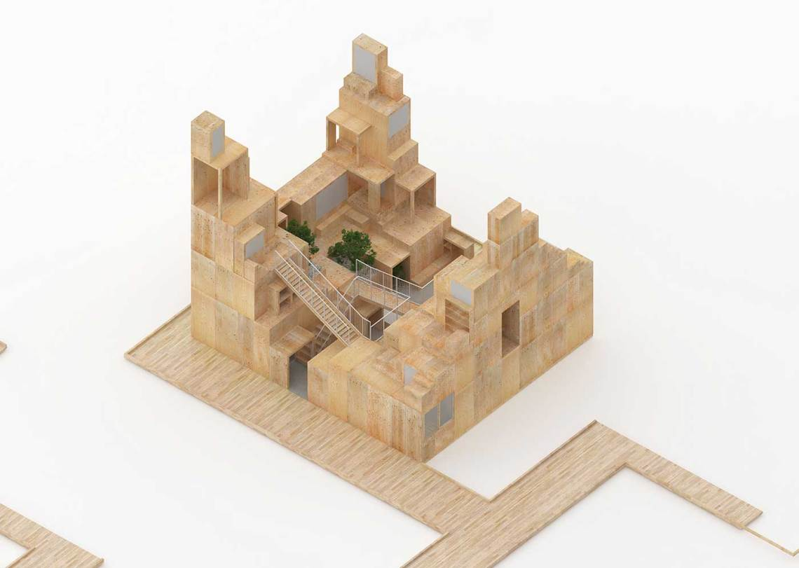 Wood model by Sou Fujimoto