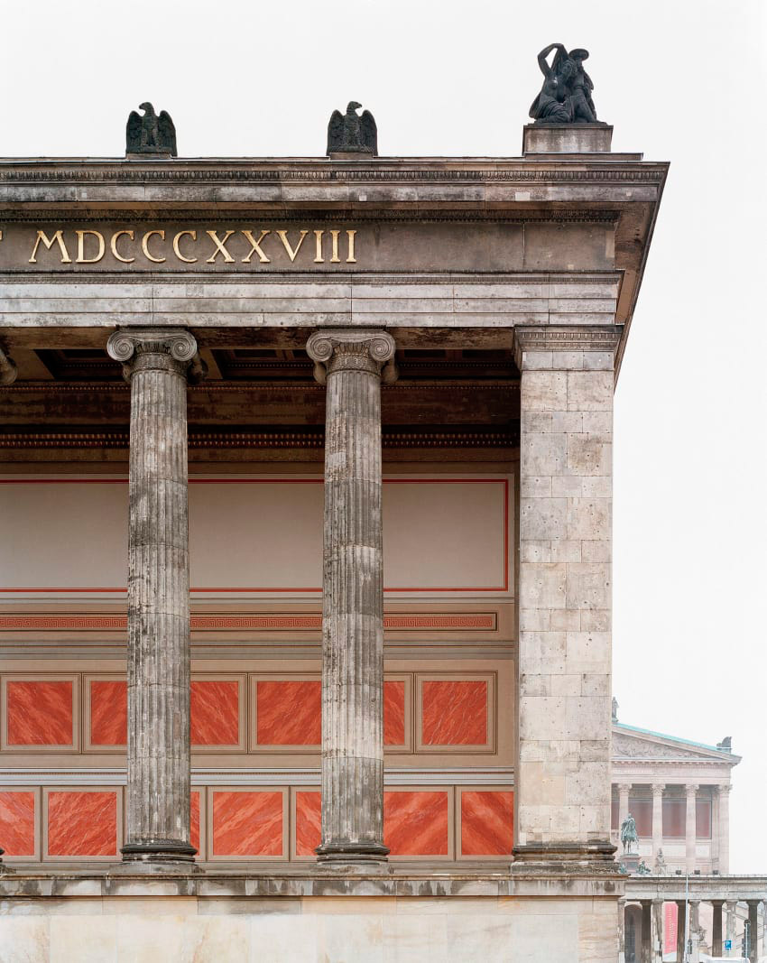 Facade detaisl of the Altes Museum  by Karl Friedrich Schinkel