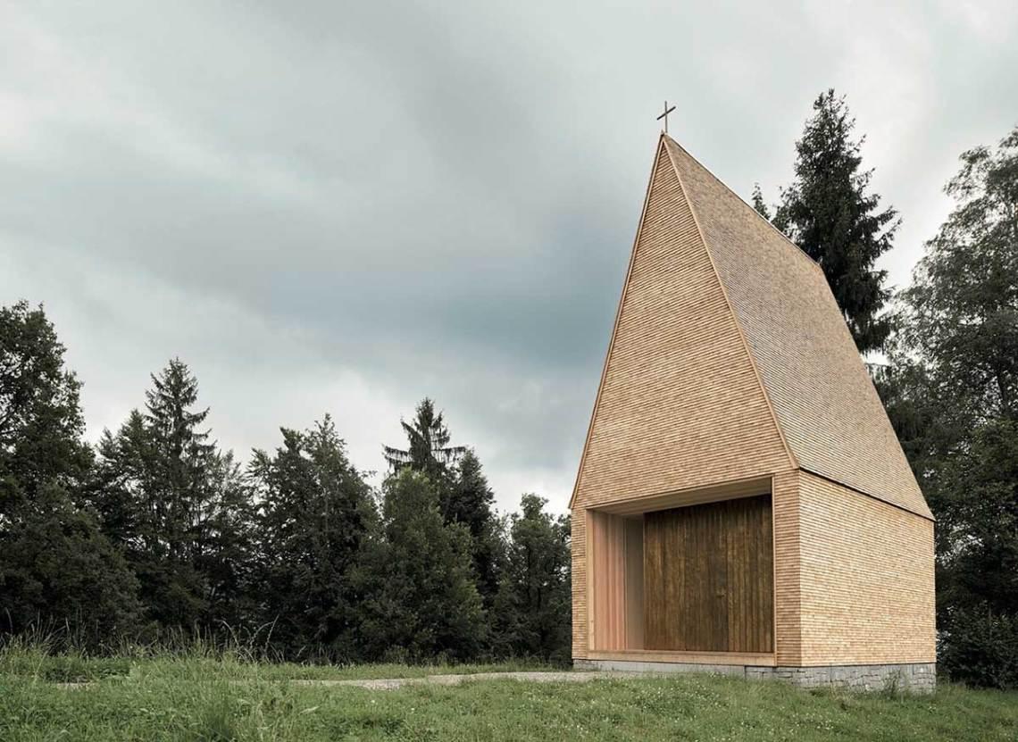 Salgenreute Chapel by Bernardo Barder Architects Exterior Facade