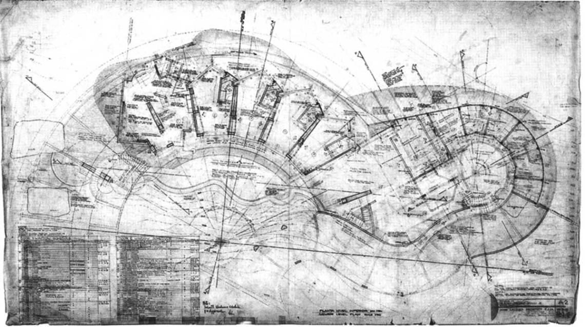 Arango Marbrisa House by John Lautner Floor Plan