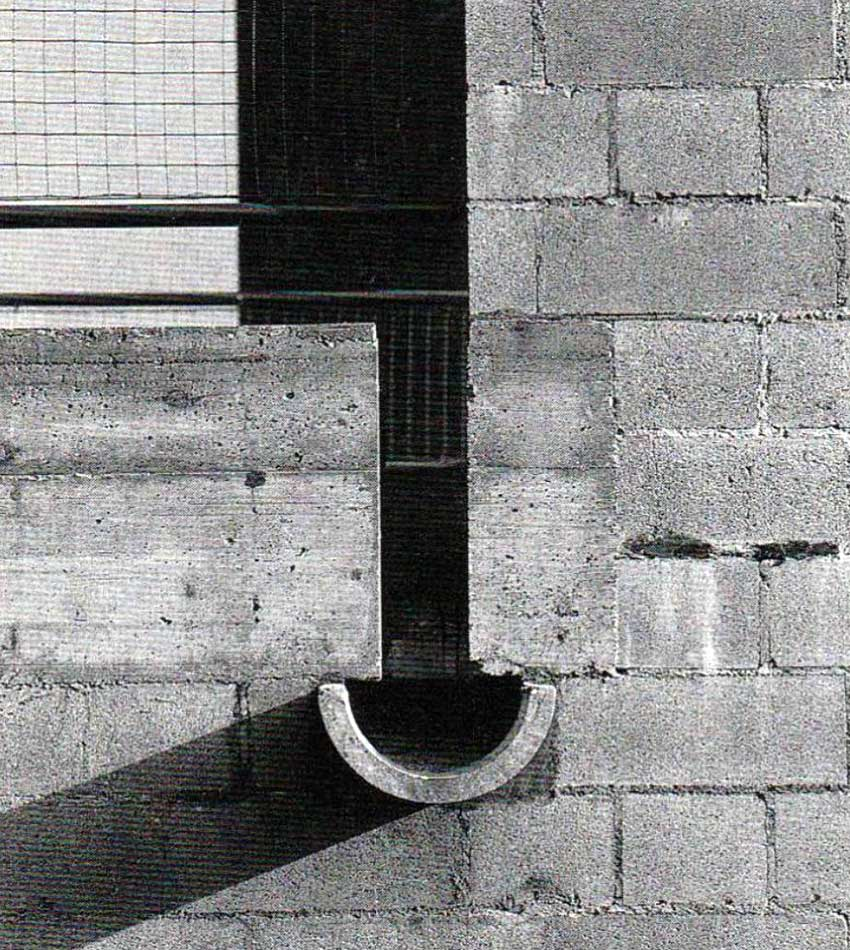 Detail of House Construction. Pipes