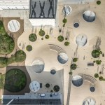 Karen Blixens Square aerial view by COBE Architects