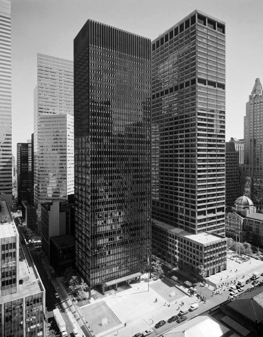 Seagram Building in New york by Mies Van Der Rohe