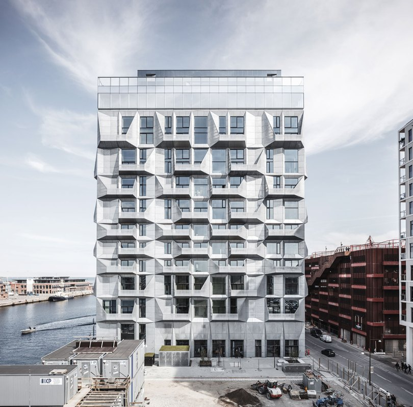 Elevation view of the Silo Apartment Building by COBE