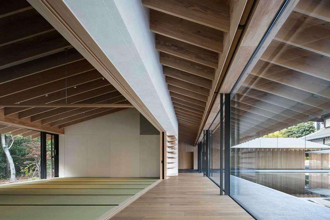 Japanese modern temple architecture by kengo Kuma
